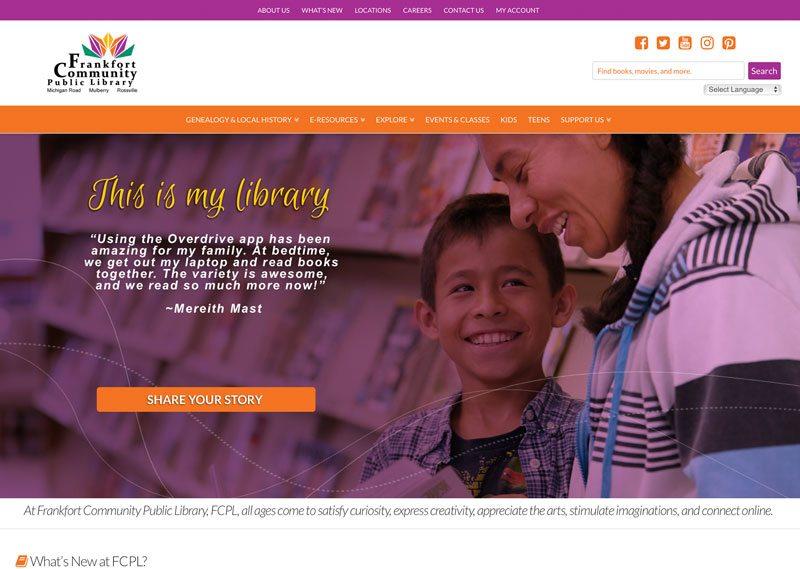 Frankfort Community Public Library, ThinkPod Agency, Websites, Digital Marketing, Design, Strategy
