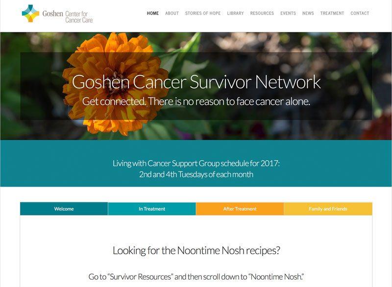 Goshen Center for Cancer Care Survivor Network, ThinkPod Agency, Websites, Digital Marketing, Design, Strategy