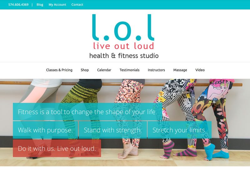 l.o.l Fitness Center, ThinkPod Agency, Websites, Digital Marketing, Design, Strategy