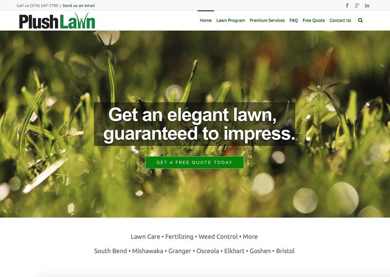 Plush Lawn, ThinkPod Agency, Websites, Digital Marketing, Design, Strategy