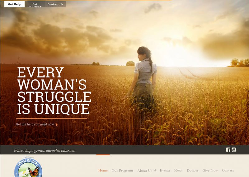 Soroptimist House of Hope, ThinkPod Agency, Websites, Digital Marketing, Design, Strategy